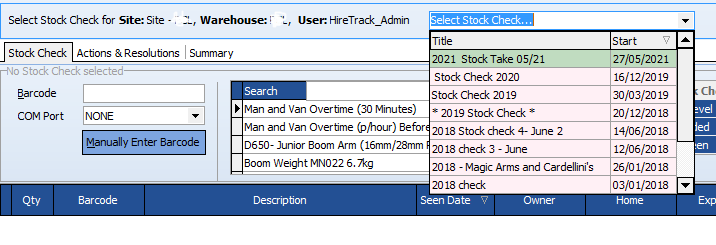 Stock Check Status