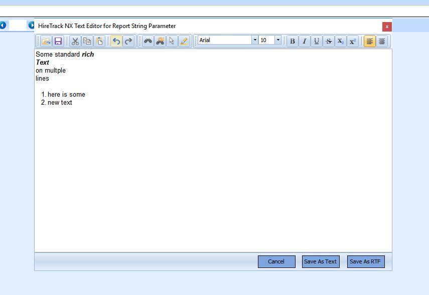 Rich Text Input Editor