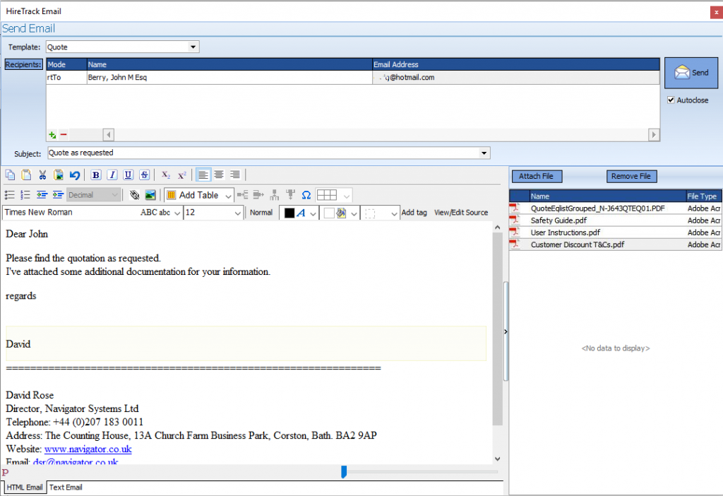 Attach Documents to Email