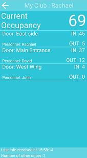 Screenshot visitor counter app management screen